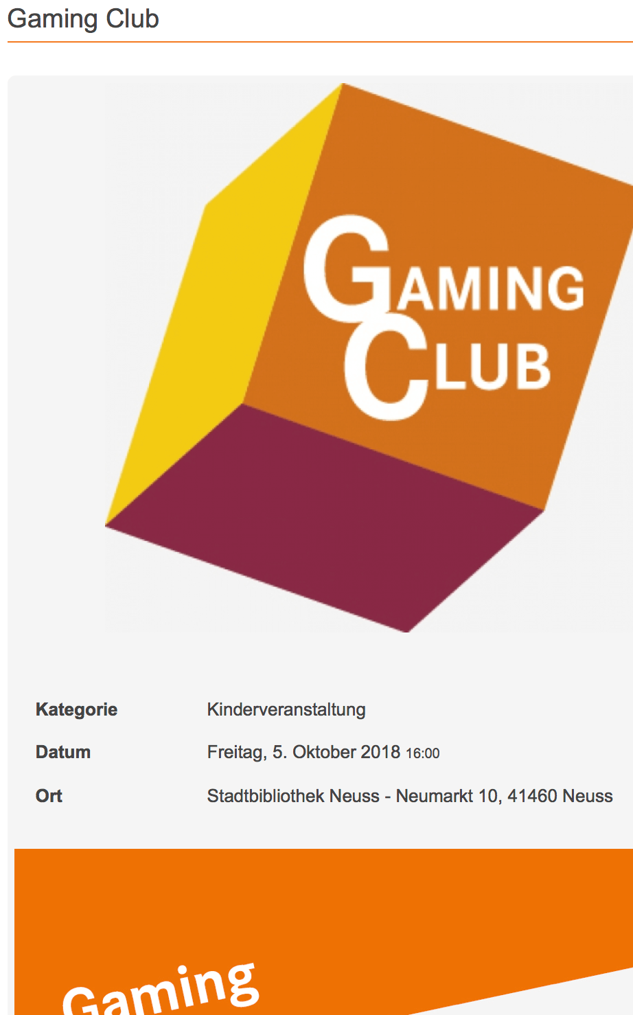 Gaming Club Projekthelden