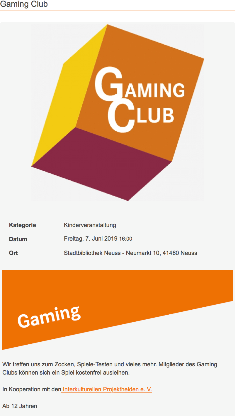 Interkulturelle Projekthelden Gaming Club