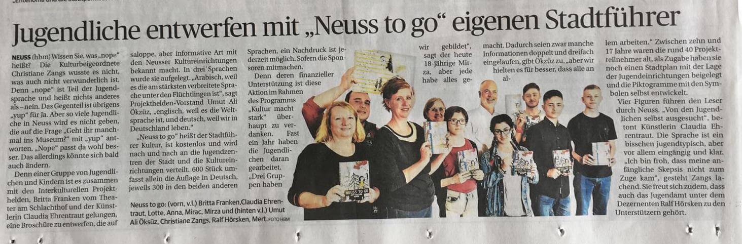 Interkulturelle Projekthelden: Neuss to go