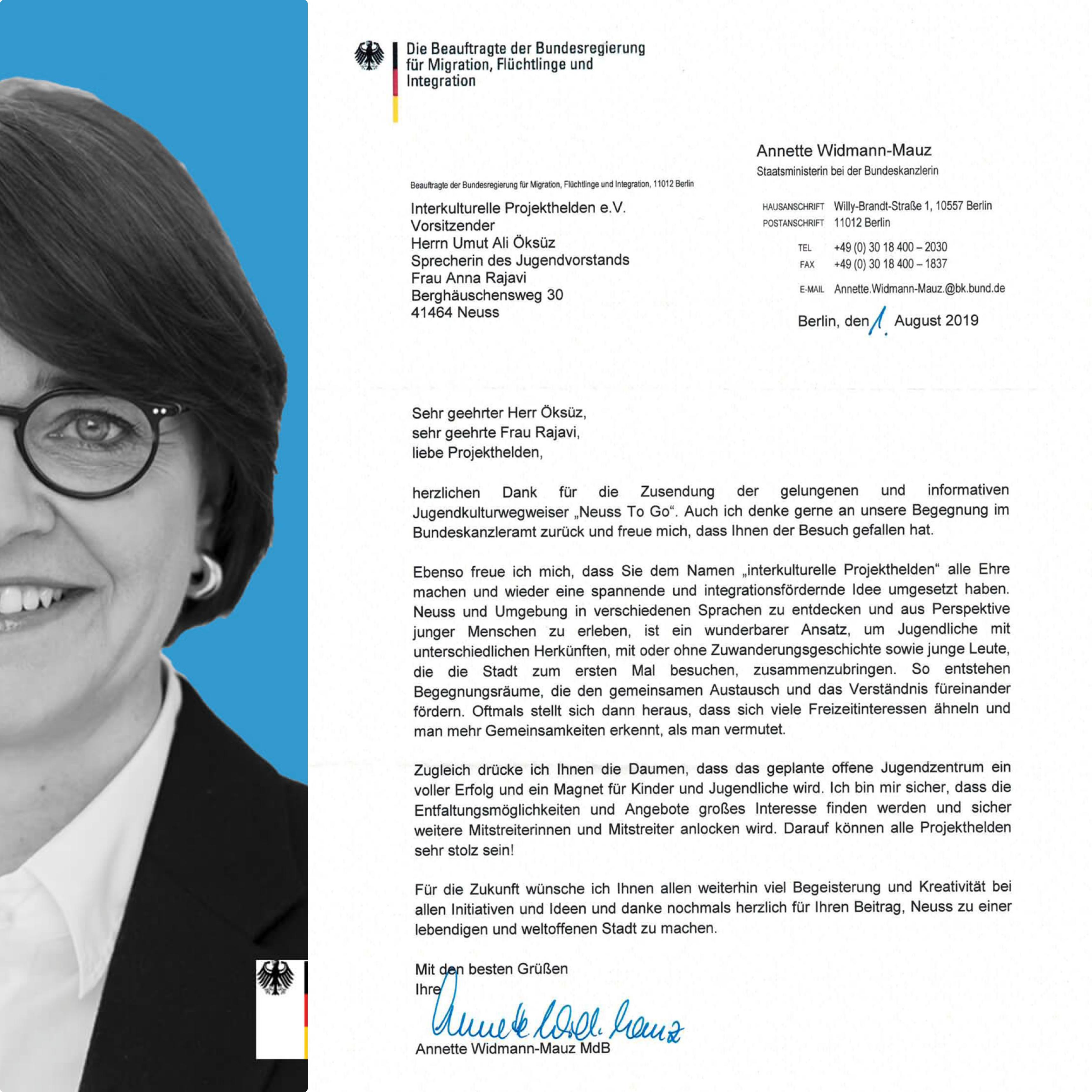 Annette Widmann-Mauz Interkulturelle Projekthelden