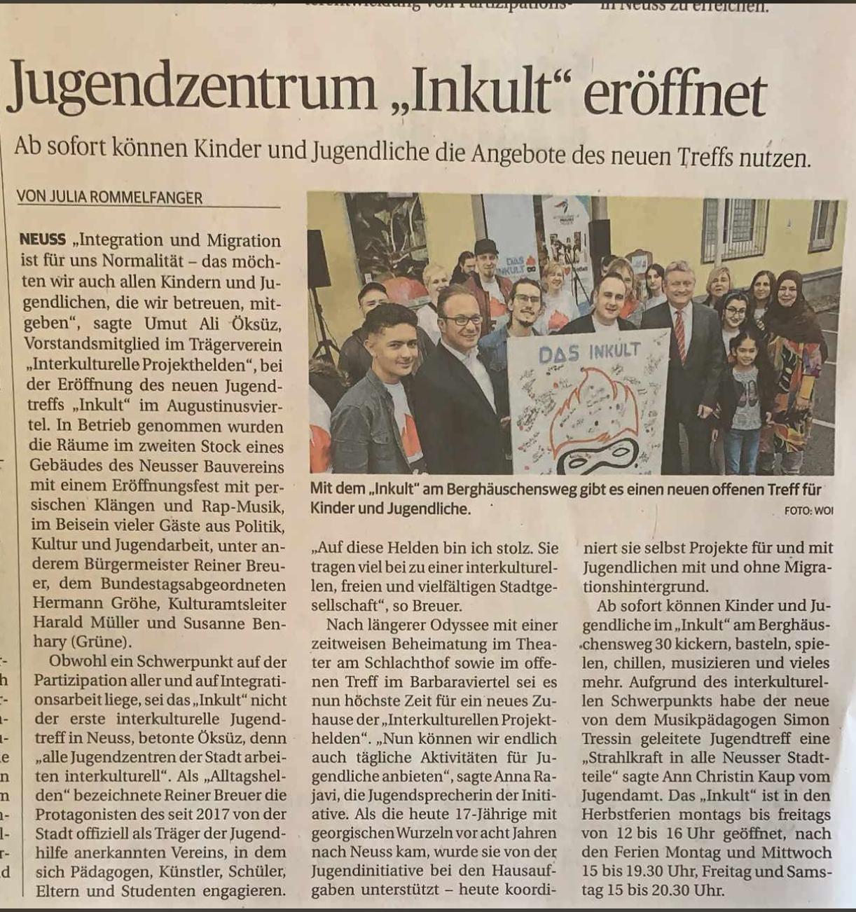 Pressemitteilung Stadtkurier vom 16.10.