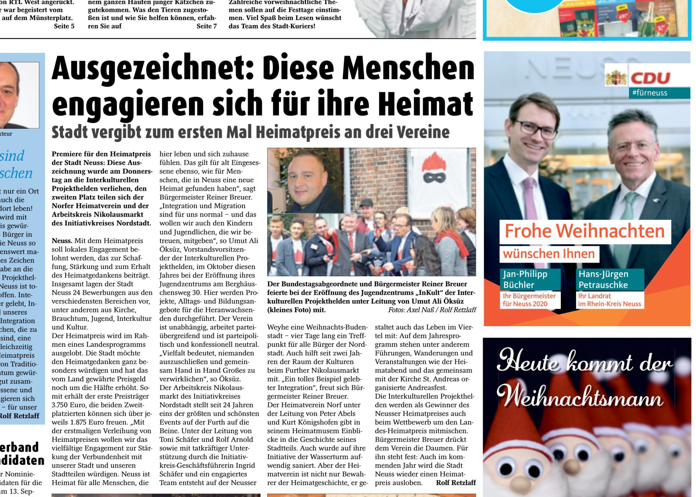 Heimatpreis NRW Interkulturelle Projekthelden