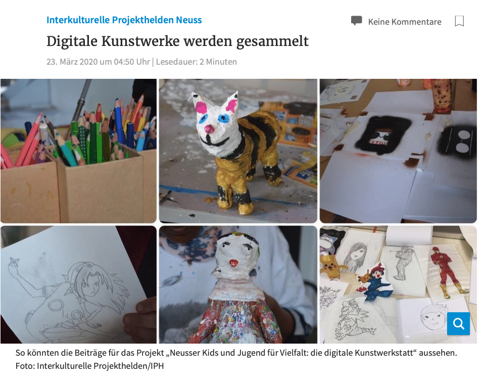 Projekthelden digitale Kunstwerke